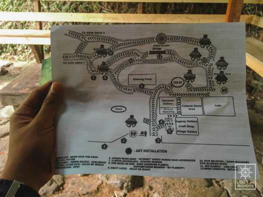 Photo: map of Tam-Awan Village in Baguio City