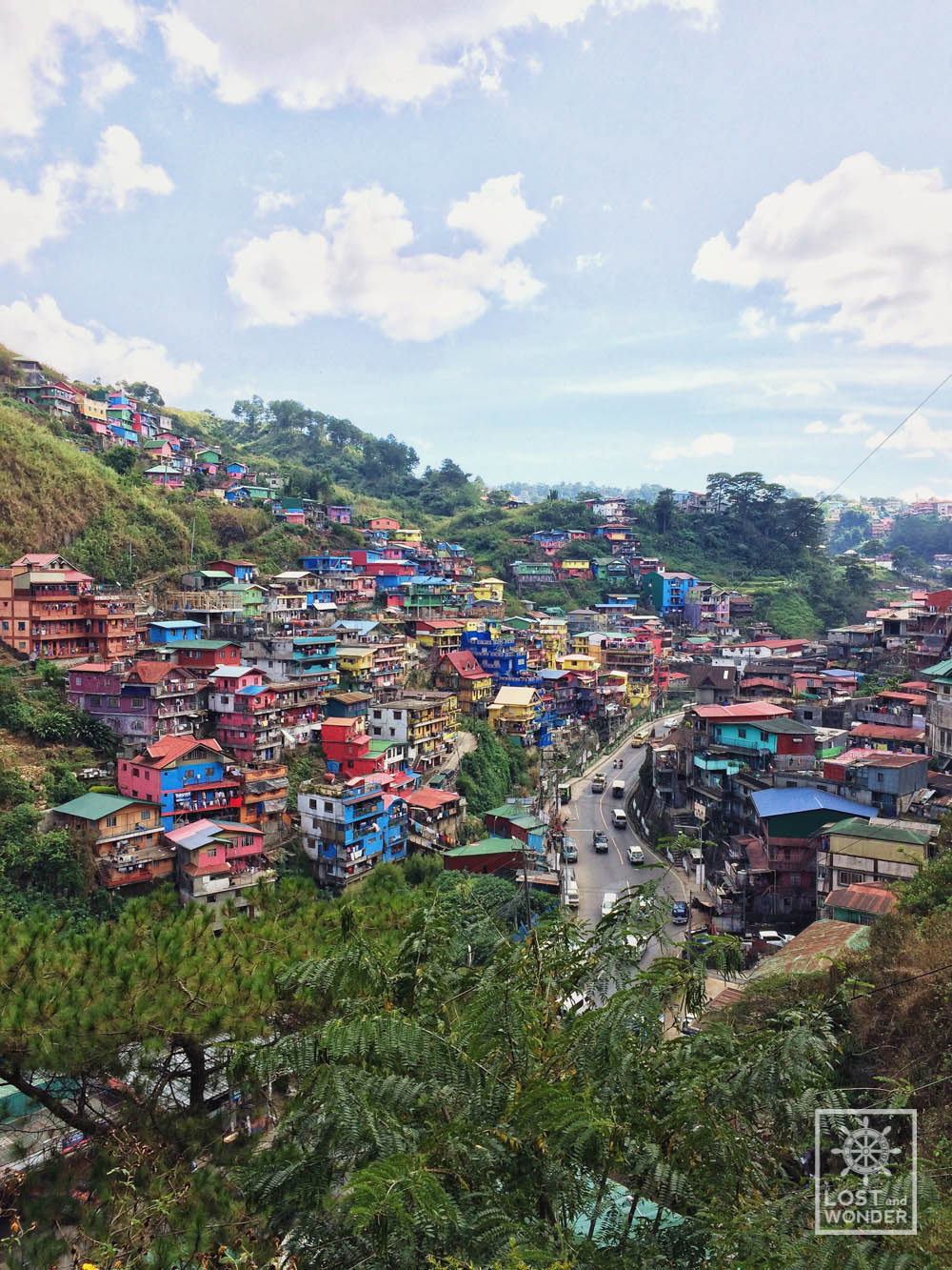 Photo of Valley of Colors from Sitio Upper Cogcoga in La Trinidad, Benguet
