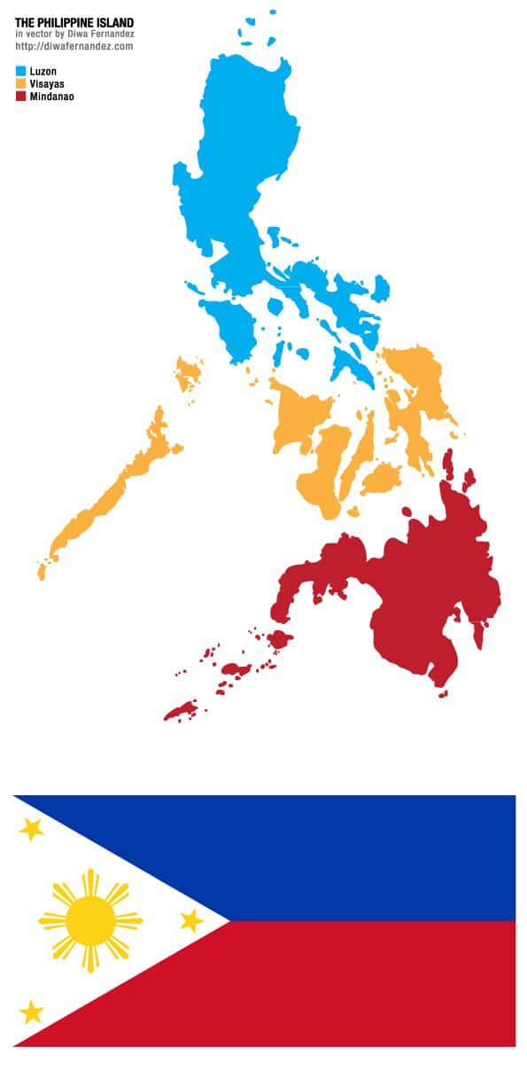 Photo of philippines map and flag