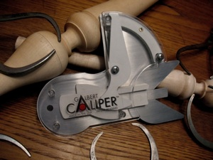 The Galbert Caliper provides a constant, accurate reading of a workpiece's diameter while it's being cut.