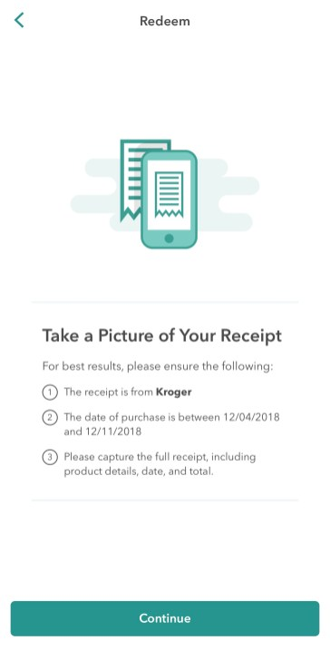 Then go shopping and upload your receipt.
