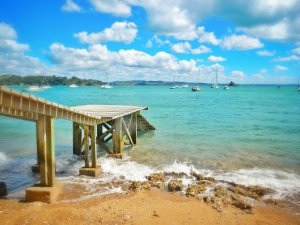 Weekly Photo Mojo: Pier out into the Sea from the Island of Waiheke.