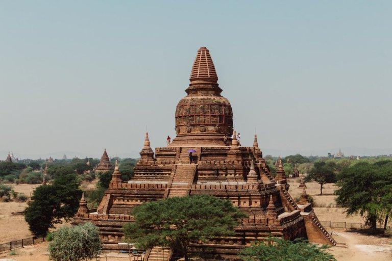 Temples in Bagan Myanmar.