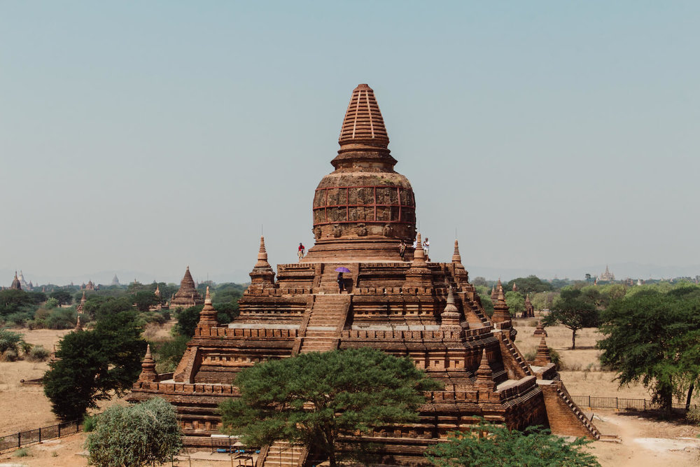 Temples in Bagan Myanmar.