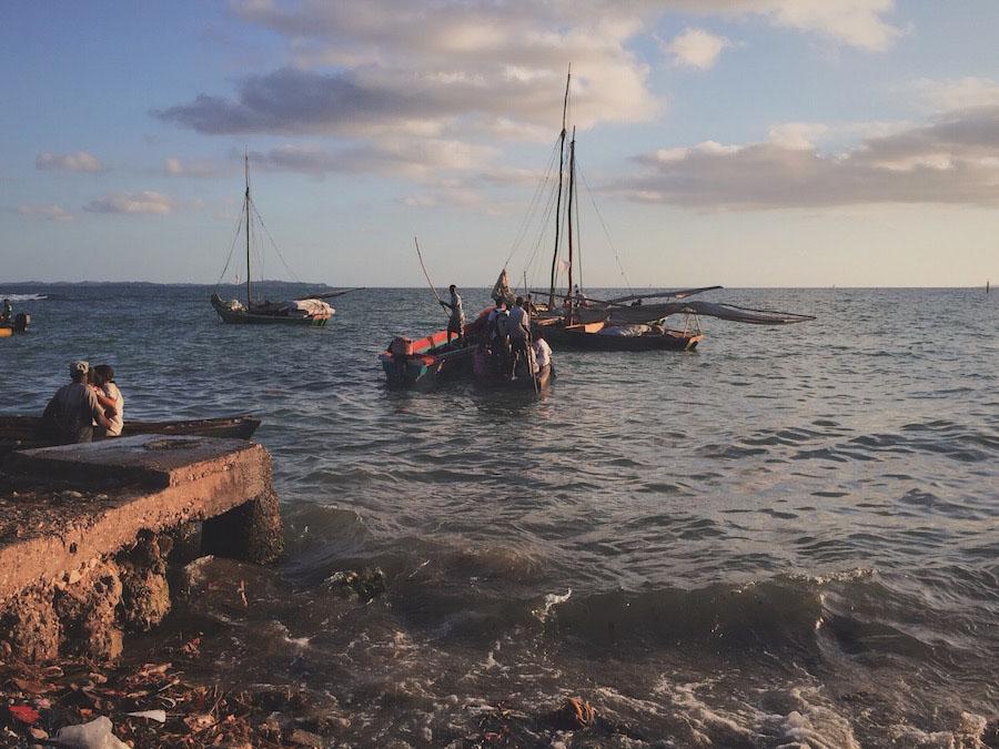Port in Jacmel Haiti to Ile A Vache.