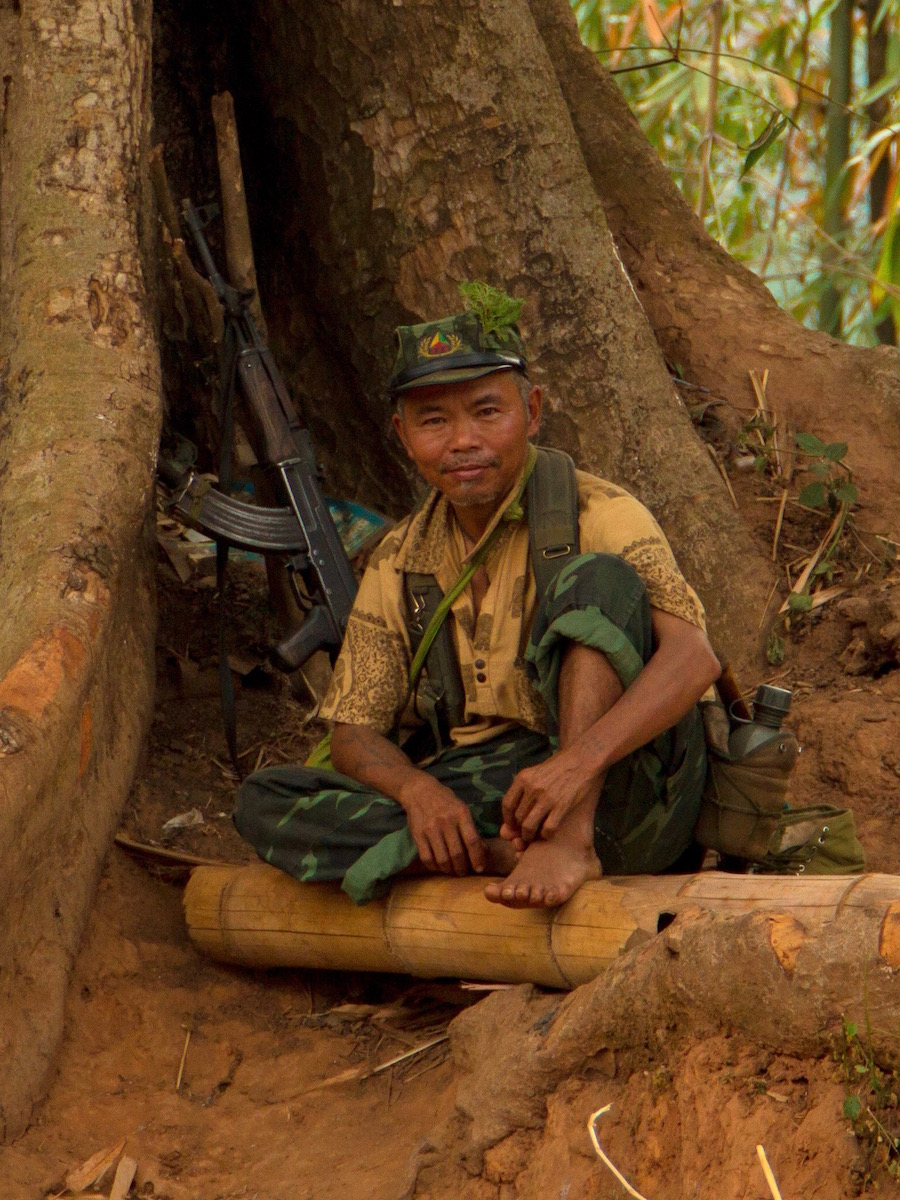 Rebel Shan soldier in Myanmar