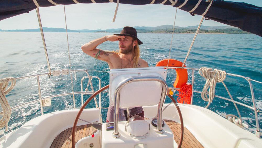 Me skippering a medSailors boat.