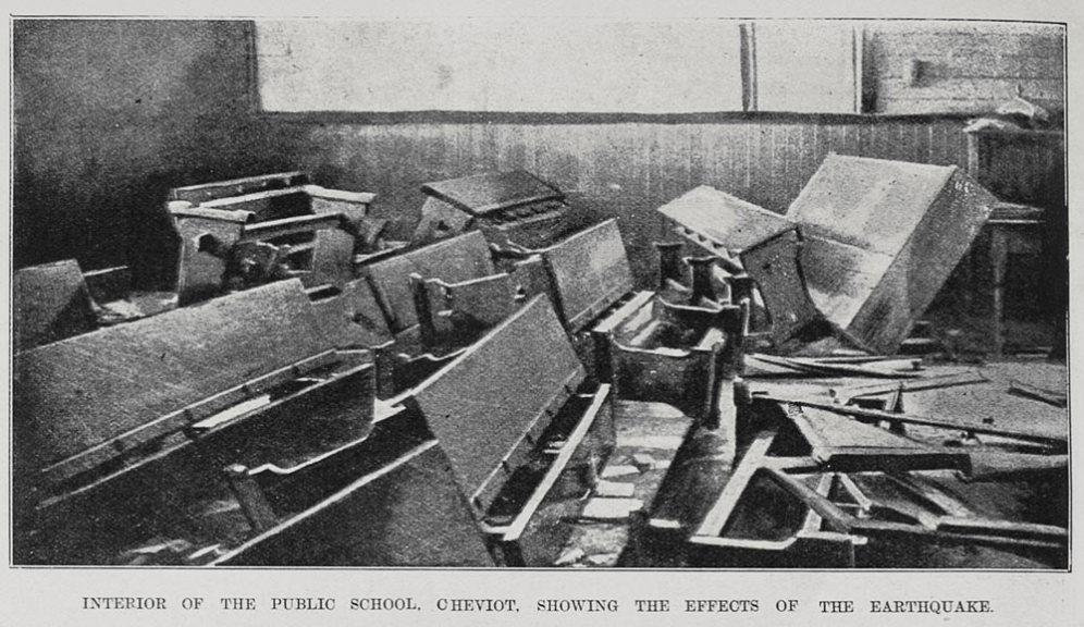 Earthquake Cheviot school