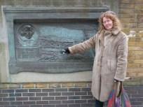 Old plaque marking site of original Globe