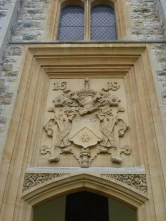 Plaque above chapel door