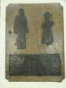 Brass memorial to John Lyon (d. 1592) and his wife Joan