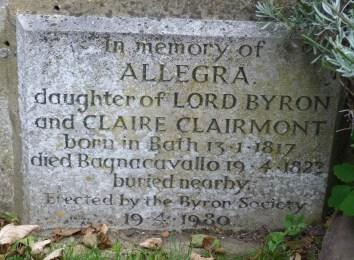 Memorial to Allegra Byron