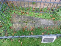 4 - Close-up of Crusader's grave in south churchyard