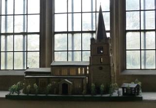 6 - Model of church made of 25000 matchsticks