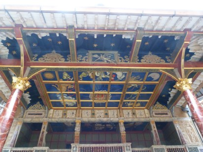 6 - Behind the scenes tour - ceiling above stage
