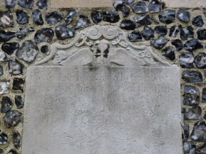 2 - Seventeenth-century grave slab built into wall