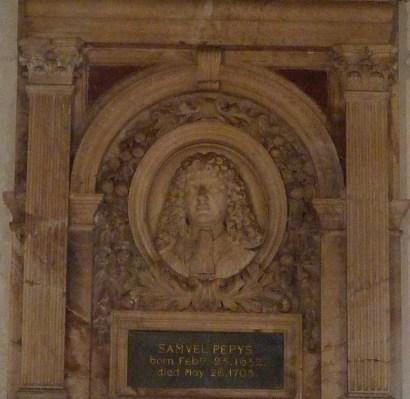 detail-of-samuel-pepys-memorial-1703