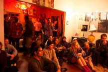 AUDIENCE AT THE FARMHOUSE