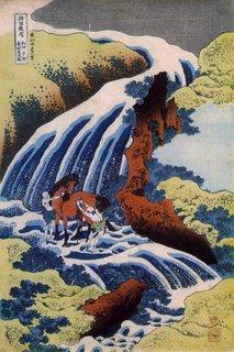 Waterfall by Hokusai
