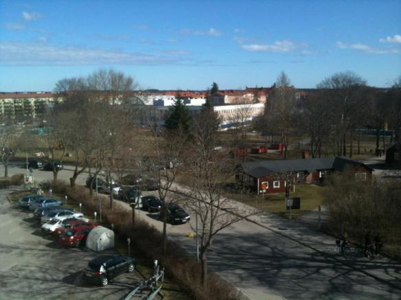 Taken from a balcony facing Economicumparken on 01/05/2013 at 10:00