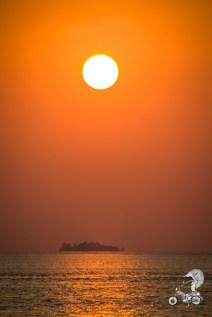 Sunset over one of the Karimunjawa island.