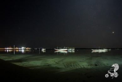Karimunjawa port by night.