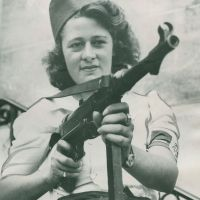 Vintage Photographs of Women in Combat
