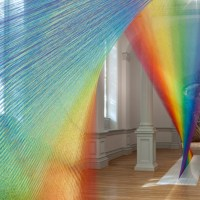 Artist Brings the Rainbow Indoors Using 60 Miles of Thread