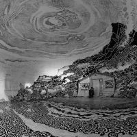 Japanese Art Festival Hosts World's Largest Drawing Inside 40-Foot Inflatable Dome