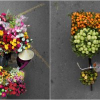 Street Vendors Photographed from Above Showcase Plethora of Colors