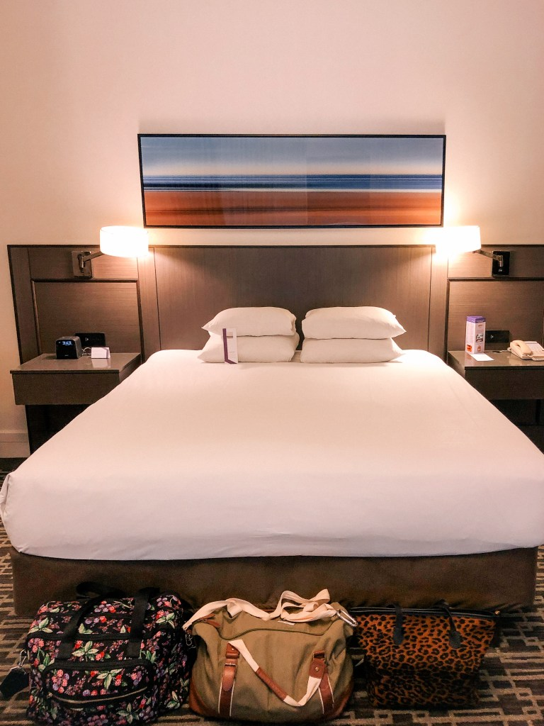 Downtown Cleveland king size bedroom