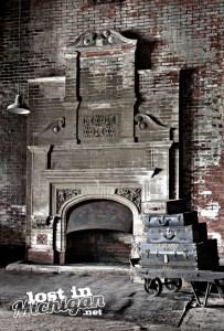 Potter Street Train Station fireplace