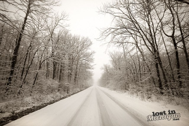 Michigan Snow Road