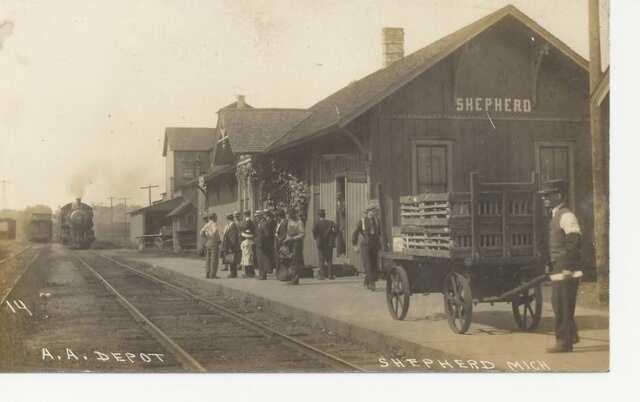 Shepherd Michigan train depot