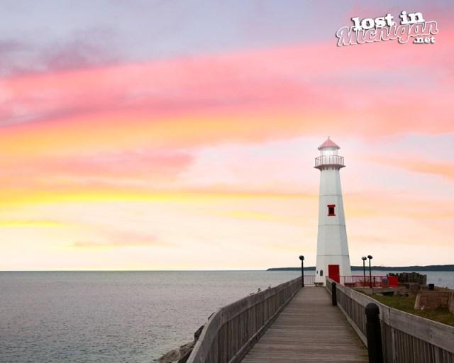 Wawatam Lighthouse in St Ignace Michigan