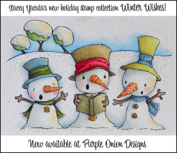 Snowy Trio Stamp Announcement - reduced