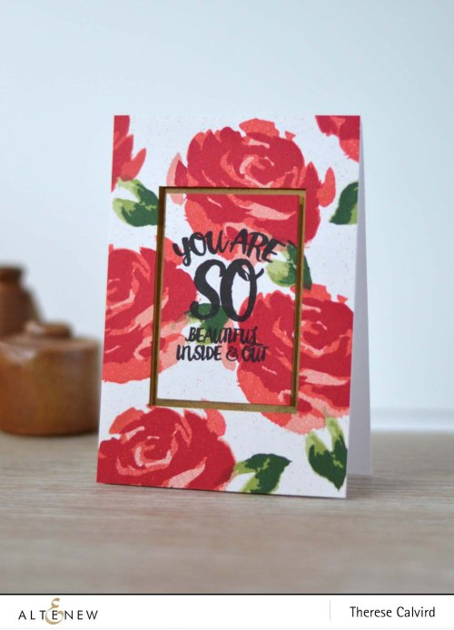 Altenew Painted Rose Oriental Orchid card