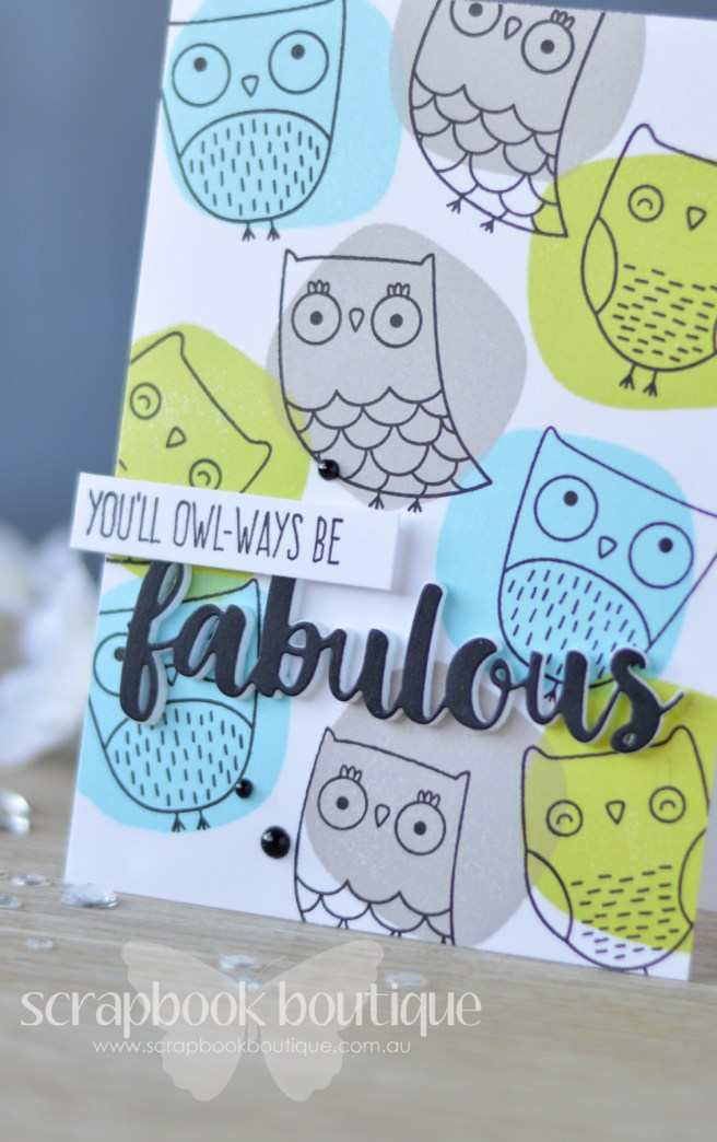 Lostinpaper - MFT - I'm Owl Yours - Circle Scribble Flowers (card video) (1)