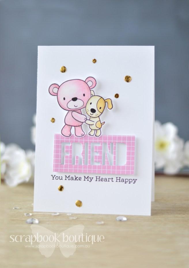 Lostinpaper My Favorite Things - Friends Furever - Words for Friends (card) 2