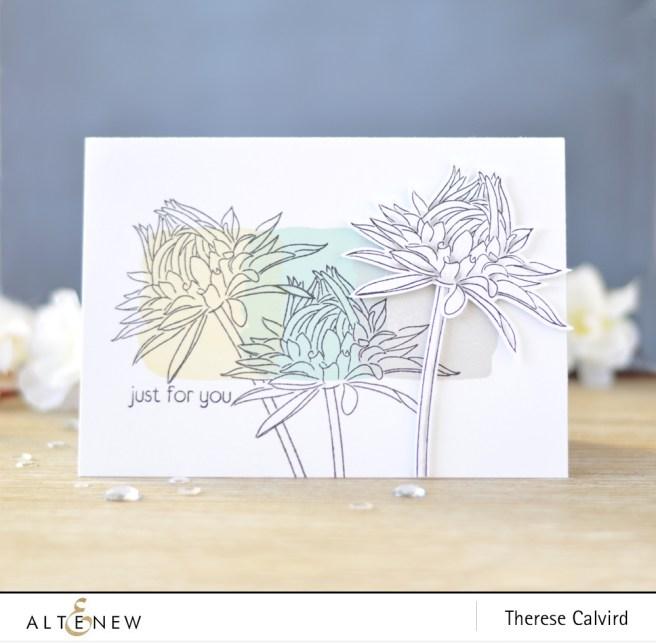 Altenew - Best Bud - Watercolor Frames - Lostinpaper (card) 2 copy