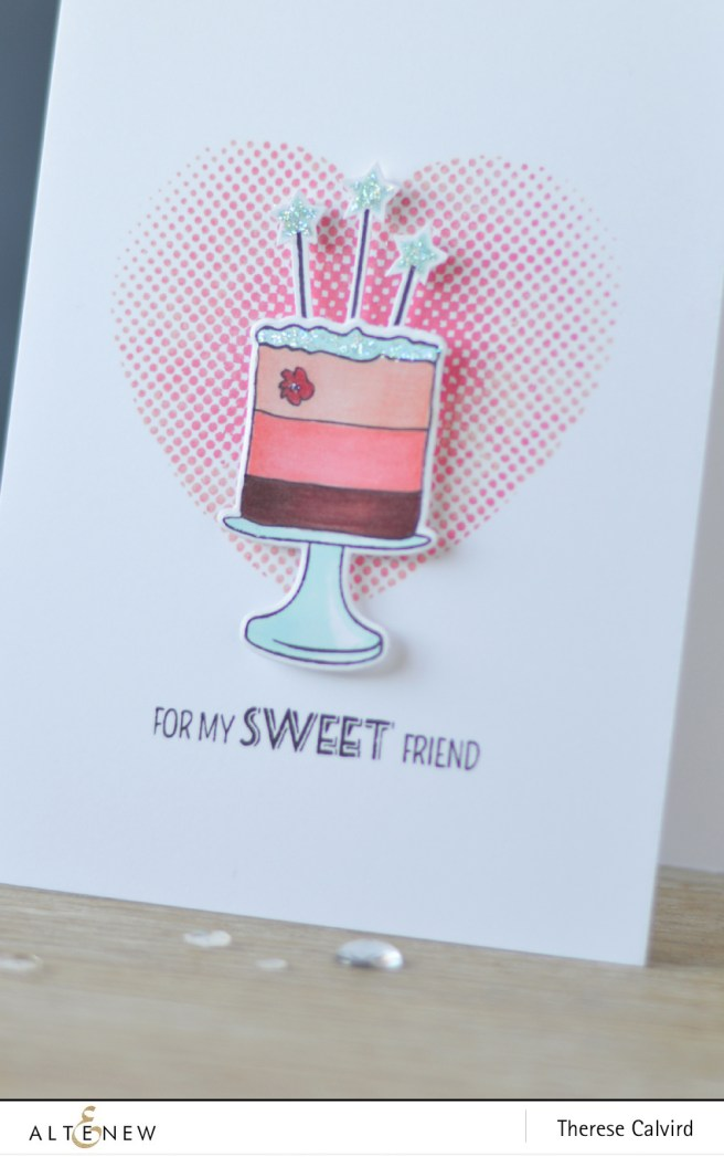 Altenew - Cake Love - Halftone Hearts - Layered Cupcake - Wood Pallet Background - Lostinpaper (card video) 1 copy