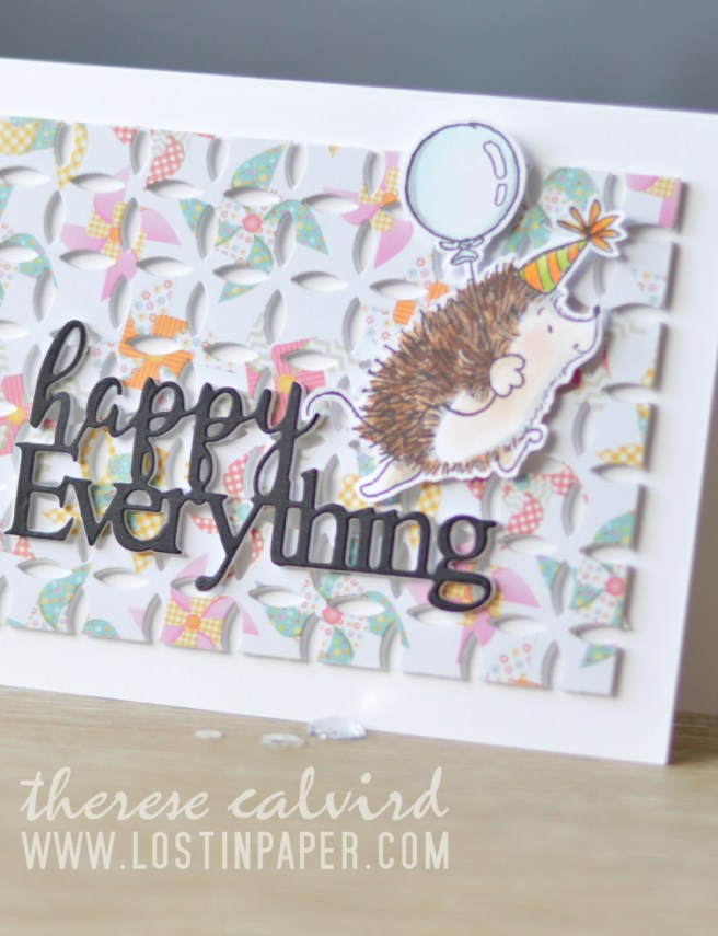 Lostinpaper - Penny Black - Cheerful Critters - Awesome (Gimme 5 card video) 1