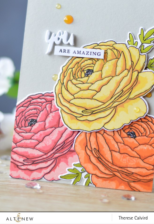 Altenew - Build-A-Flower - Ranunculus - Magnolia - Lostinpaper (card) 2 copy