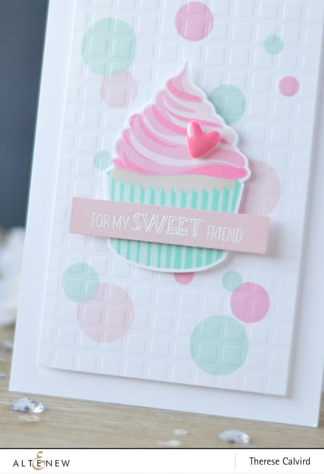 Altenew - Layered Cupcake - Grid Stencil - Lostinpaper (card video) 1 copy