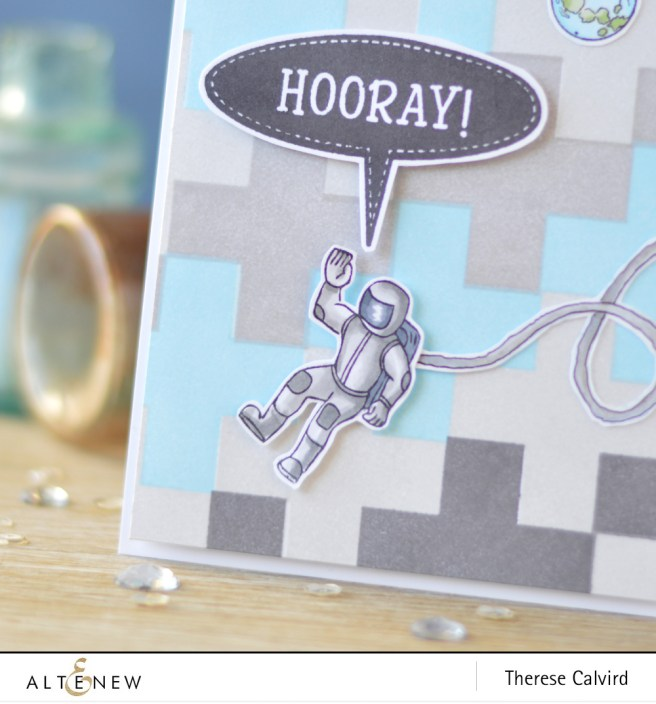 Altenew - Building Blocks - Speech Bubbles - Space Travel - Lostinpaper (card) 1 copy