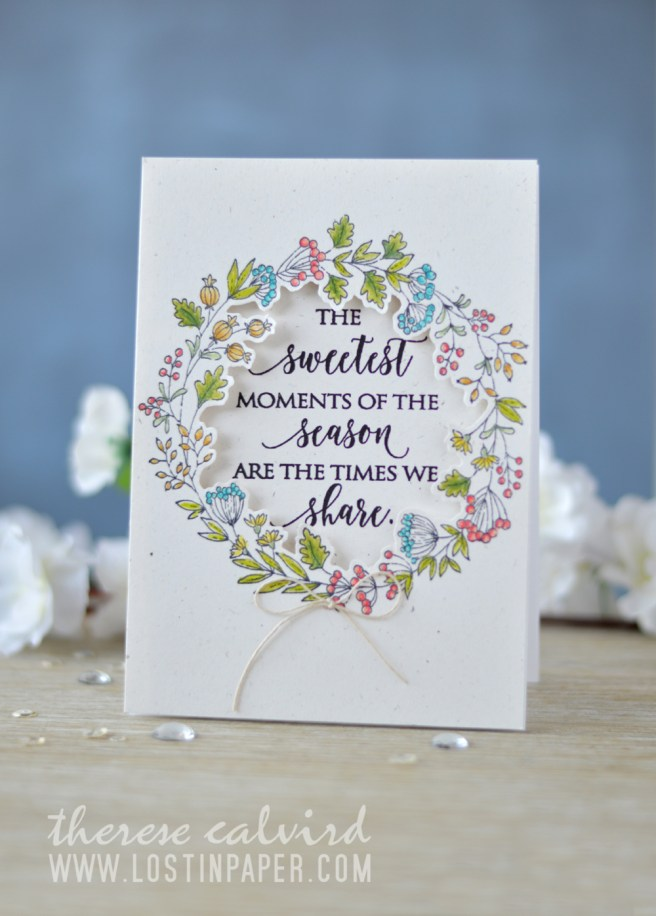 Lostinpaper - Penny Black - Berry Circle - Sweetest Moments (card video) 1