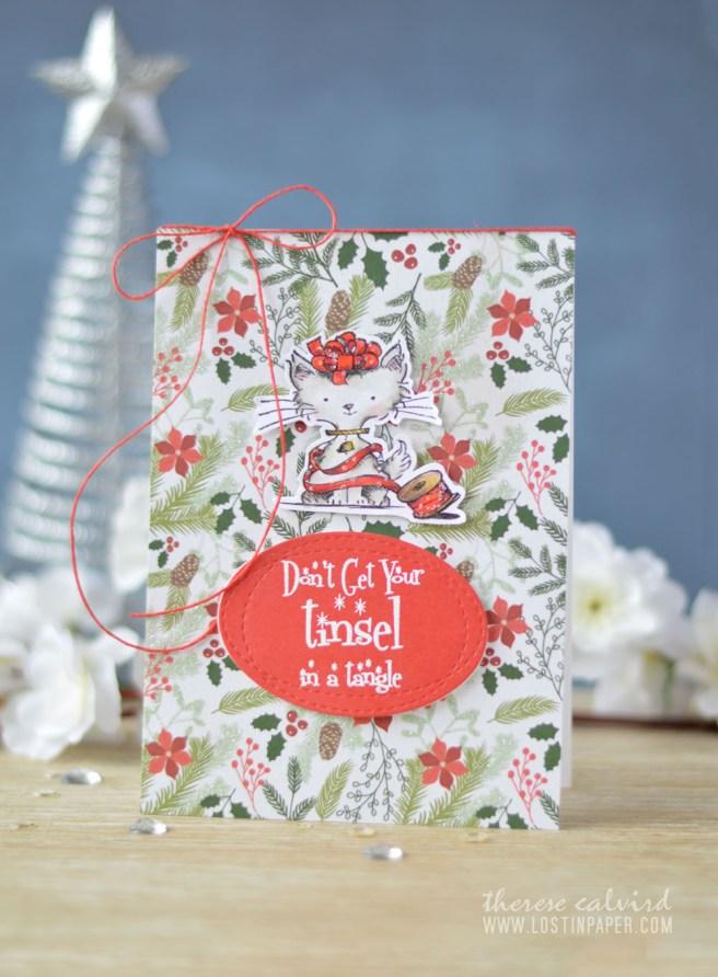 Lostinpaper - Cat Christmas - Inkadinkado - Santa's Helper (card video) 1