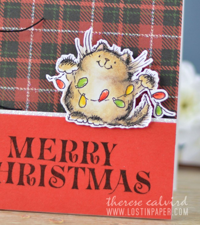 Lostinpaper - Cat Christmas - Penny Black - Deck the Halls (card video) 2