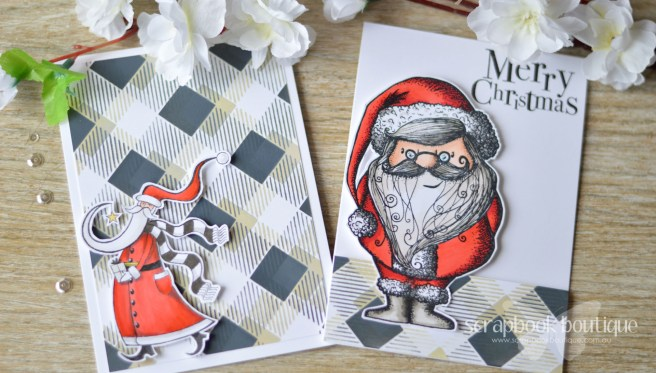 Lostinpaper - Same But Different Christmas Card Series 2017 - One Stencil Masculine Designs (card video) 1