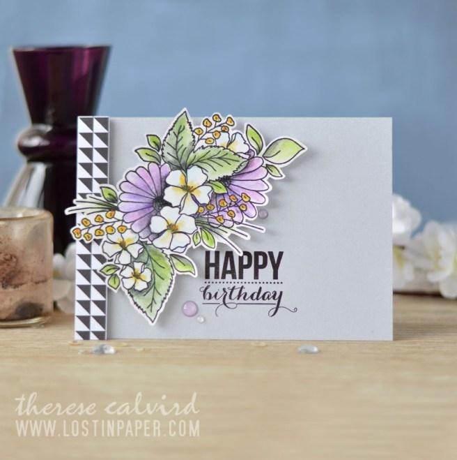 Lostinpaper - STAMPlorations - Blossom Sprays #1 (card video) 1